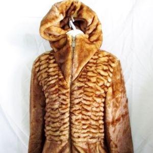 NEW ALPINE STUDIO Faux CHINCHILLA FUR Vegan jacket